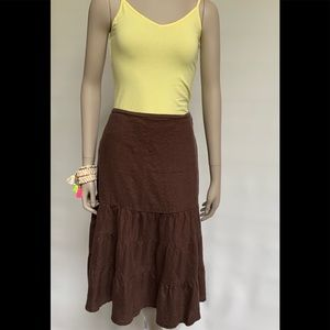BROWN LINEN SKIRT